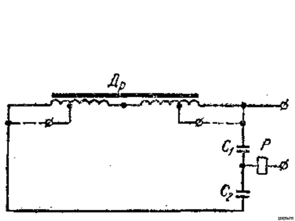 Схема индуктивного выключателя