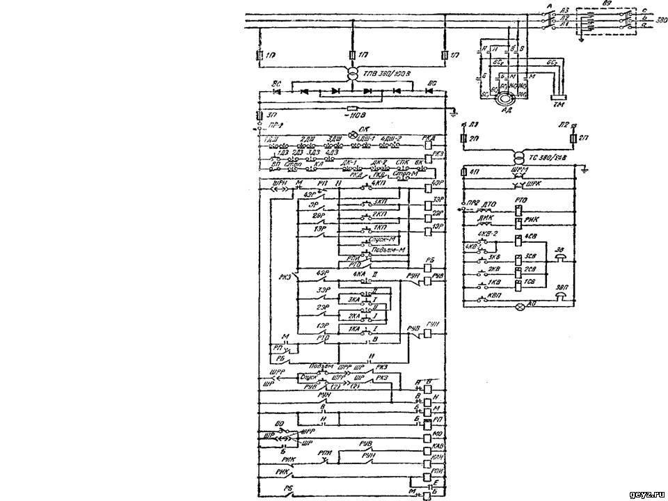 схема грузового лифта с