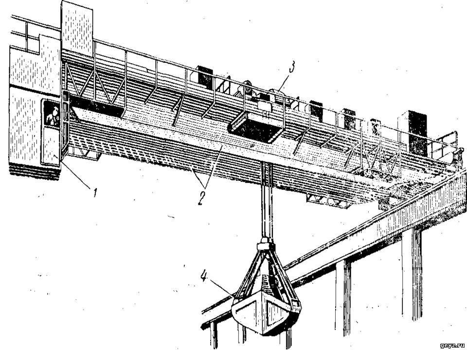 Мостовой грейферный кран