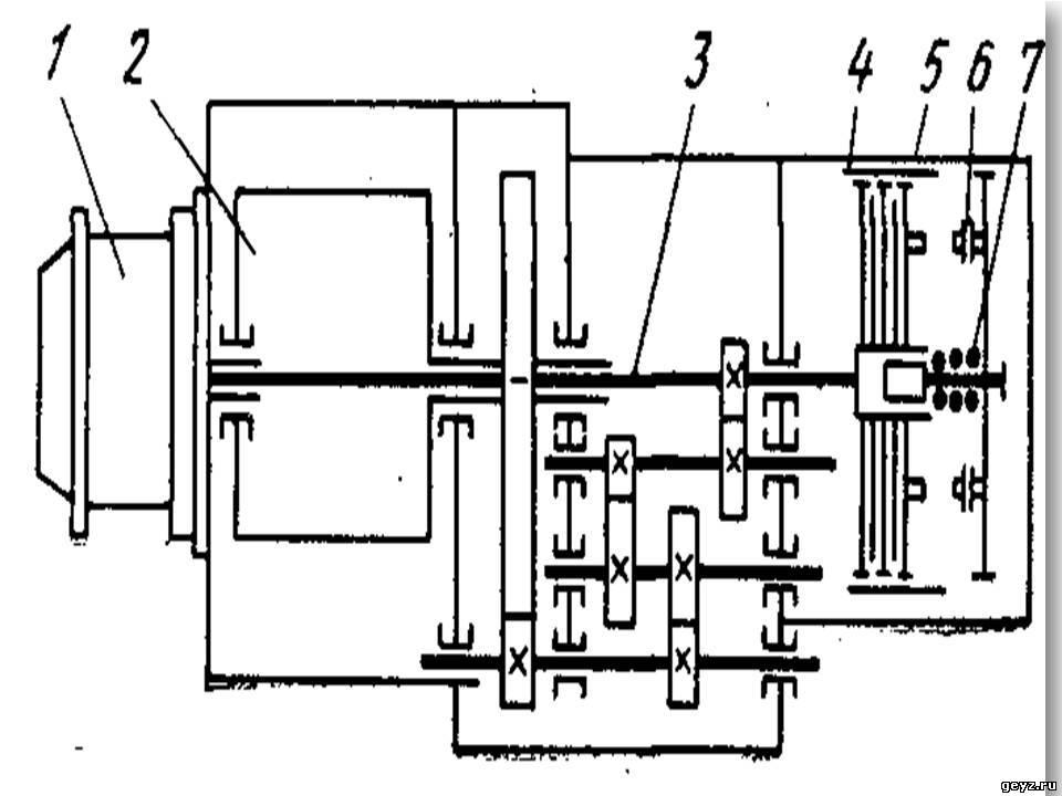 Схема стационарной электротали