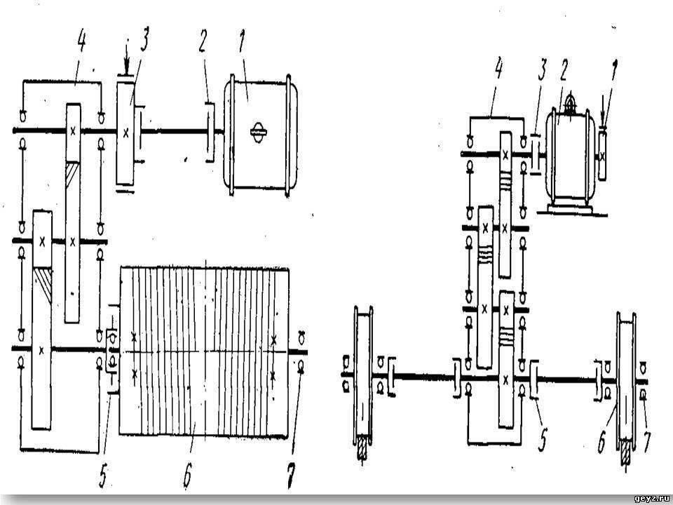 Кинематическая схема механизма подъема груза фото 32